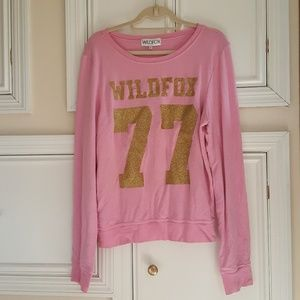 Wildfox 77 gold glitter jumper